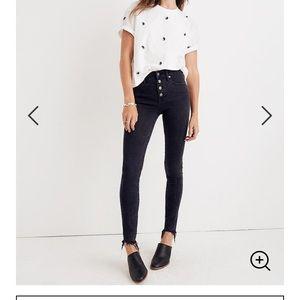"""Madewell 9"""" Skinny Jeans in Berkeley Black"""